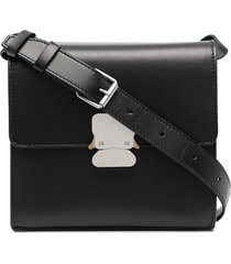 1017 alyx 9sm branded-buckle leather shoulder bag - black