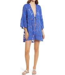 women's lilly pulitzer motley cover-up dress, size x-small - blue/green