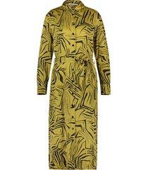 midi-jurk met print palma  groen