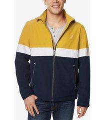 nautica men's colorblocked full-zip hooded jacket