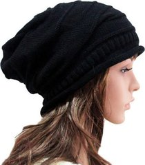 multi unisex women men knit baggy beanie hat adult winter warm hat oversized ski