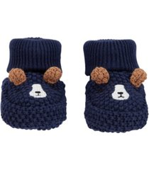 carter's baby boys dog crochet booties