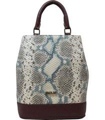 bolsa mochila de couro recuo fashion bag vinho/cobra