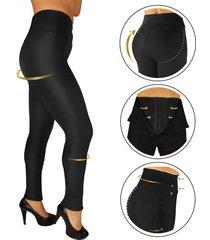 pantalón mujer faja interna levanta cola fajas canela- color negro