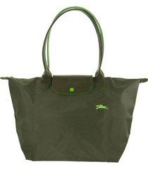 longchamp le pliage club shoulder bag l green