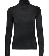 logo turtleneck t-shirts & tops long-sleeved zwart casall