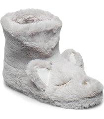 cat boot slippers tofflor grå hunkemöller