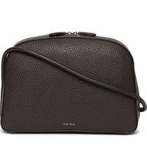 single mignon leather shoulder bag, mocha brown