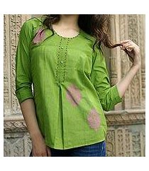 cotton blouse, 'gujrati green' (india)