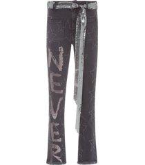 calça feminina jeans never more - cinza