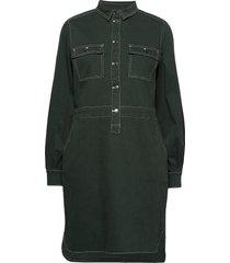 dress w. long sleeves jurk knielengte groen coster copenhagen