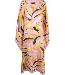 emilio pucci vetrate-print beach dress - pink