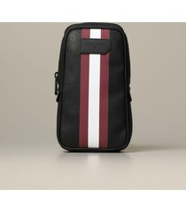 bally shoulder bag tanis bally backpack in saffiano coated canvas with trainspotting band
