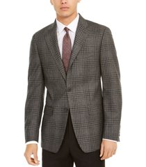 calvin klein men's slim-fit plaid wool sport coat