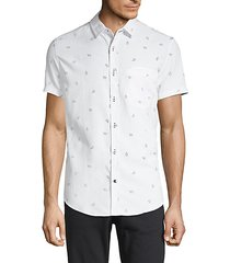 cap-print short-sleeve shirt