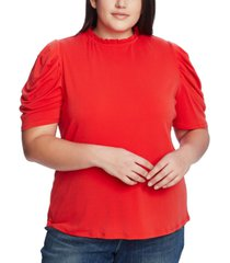 cece plus size shirred-sleeve top