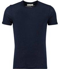 t-shirt linnen blauw