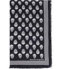 alexander mcqueen printed shawl