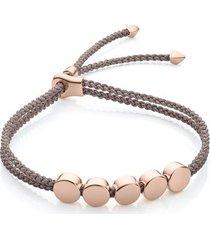 rose gold linear bead friendship bracelet