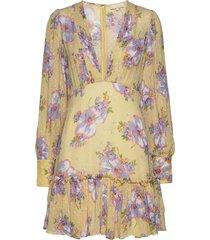 delicate semi mini dress kort klänning gul by ti mo