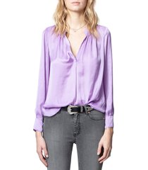 women's zadig & voltaire tink satin blouse