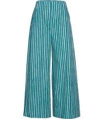 kavuta ristipiccolo trousers wijde broek blauw marimekko