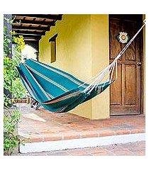 handwoven hammock, 'happy beach' (single) (guatemala)