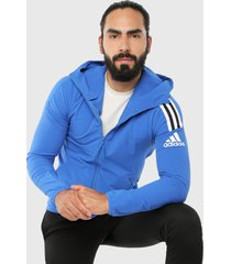 chaqueta azul-negro adidas performance z.n.e. tejido