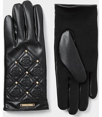 river island womens black quilted leather 'rir' gloves