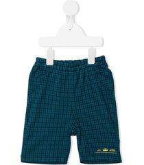 familiar plaid check shorts - blue