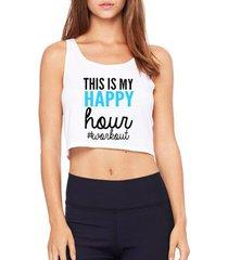 top cropped criativa urbana happy hour - feminino