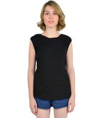 camiseta sin mangas de mujer aishop as171-1102-064 negro