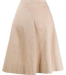 piazza sempione poplin a-line skirt - neutrals