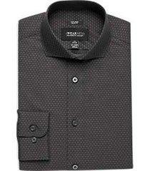 awearness kenneth cole gray dot slim fit dress shirt