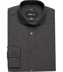 awearness kenneth cole gray dot slim fit dress shirt