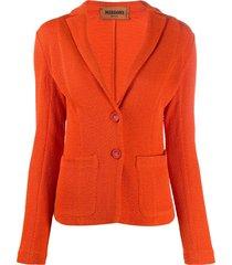 missoni jacquard knit tailored blazer - orange