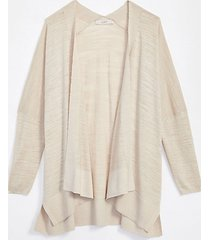 loft textured open poncho sweater