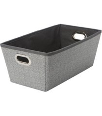 simplify small herringbone grommet shelf tote in gray
