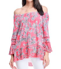fever printed bell-sleeve top