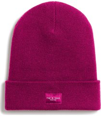 women's rag & bone addison merino wool beanie - pink