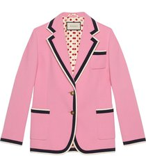 gucci stretch viscose jacket - pink