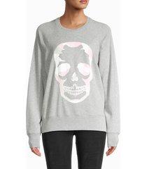 zadig & voltaire women's camouflage skull sweatshirt - navy - size m