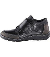 skor med kardborreband naturläufer svart