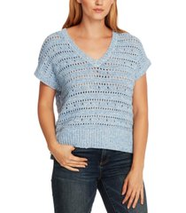 vince camuto open-stitch sweater