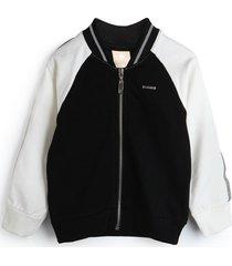 jaqueta de moletom colorittã¡ infantil bordada preta - preto - menina - algodã£o - dafiti