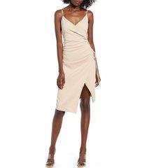 women's 4si3nna aerin sleeveless faux wrap dress