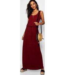 maxi-jurk met racerback, berry