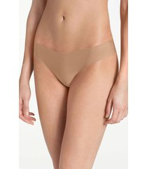women's commando microfiber thong, size x-small - beige