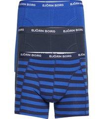shorts bb stripe 3p boxerkalsonger blå björn borg