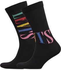 levis regular cut tall logo 2p underwear socks regular socks multi/mönstrad levi´s